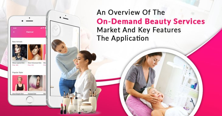 An overview of the on-demand beauty services market and key features in the appl