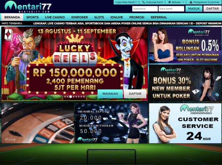 Situs Judi Online Deposit Pulsa 100 Mentari77