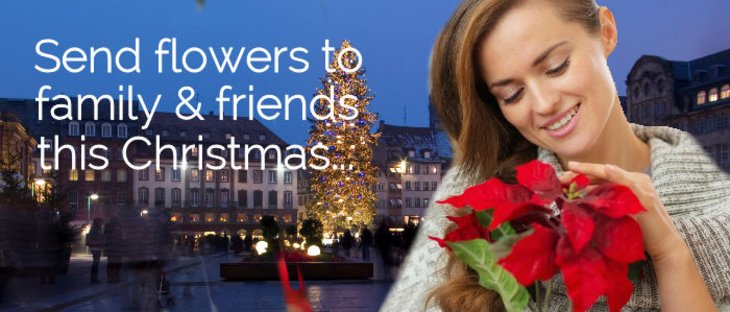 Send flowers for Christmas Dec 25th