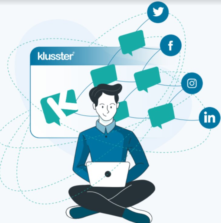Get your brand, links and a Spotlight AD on any @Klussterapp network content.