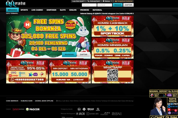 QQRATU Situs Casino Online IDN LIVE dan IDN PLAY
