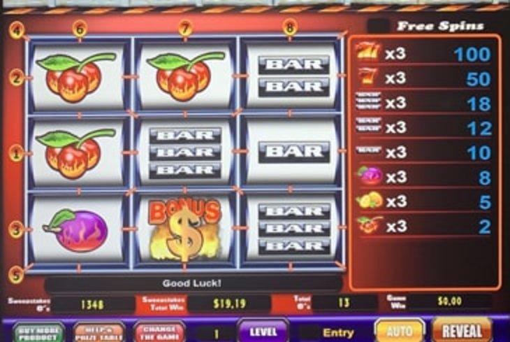 Sizzling 7s - Sweepstakes Machine, Slot Game Shop - El Paso Texas