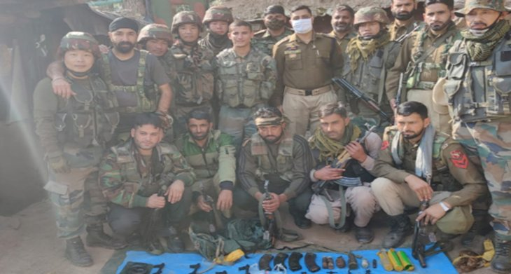 Terrorist hideout busted in Poonch, arms, ammunition recovered