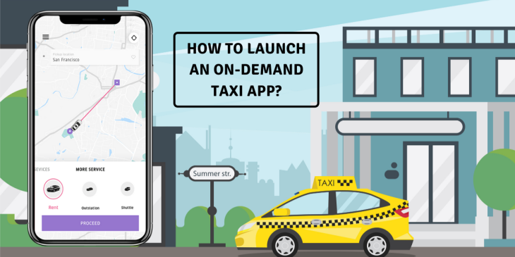 How to launch an on-demand taxi app with white-label ride-hailing tech solution?
