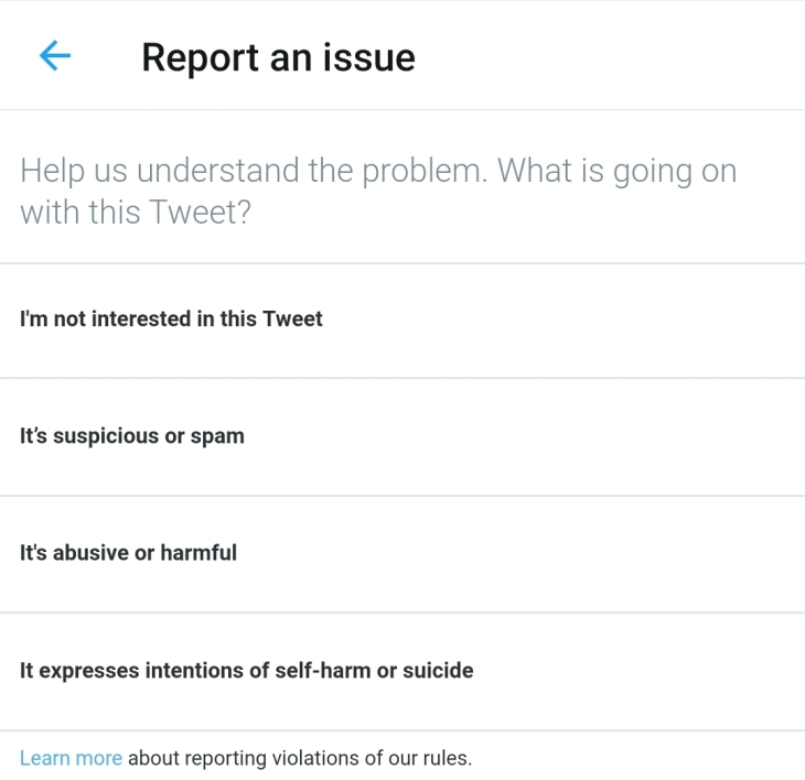 File a Report against a Tweet or Twitter abusive account?
