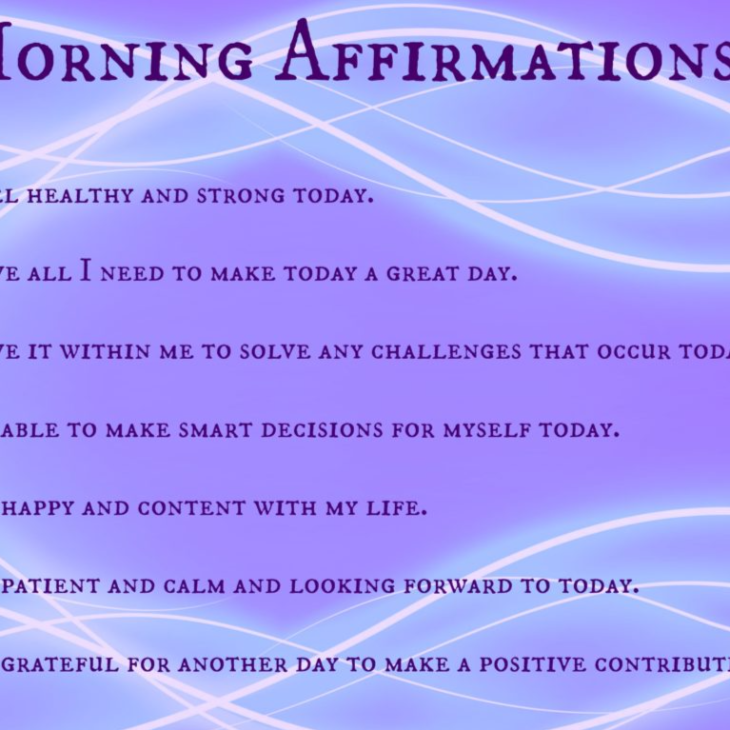 List of Daily Affirmations for Developing Positive Change