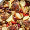Lemon-herb-Mediterranean chicken and potatoes. A one-pot meal sure to please the whole family. Check out the one-pot recipe here.