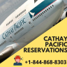For the passengers who are planning to book Cathay Pacific reservations, here they will be offered complete details to plan their trip easily or dial toll-free