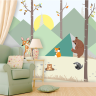 The MyCuteStickons wall stickers are stickers that are placed directly on the wall or any other smooth surface and they look great!