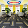 Commercial facilities often install carpet to create a comfortable, visually pleasing environment for visitors and occupants.