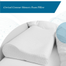 Cervical contour memory foam pillow maintains correct alignment of head, neck, and spine, reducing the strain from the neck and learn about more best pillows.