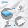 The memory foam pillow helps relieve body and neck pain while you sleep comfortably. So shop Sleepsia memory foam pillow on Amazon and get enjoy a good sleep.