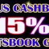 BONUS CASHBACK SPORTSBOOK 15%
