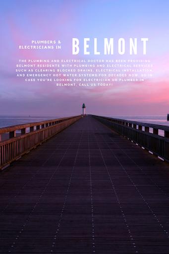 Infographic design plumber in belmont