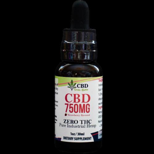 CBD 750mg Full Spectrum Strawberry Drops