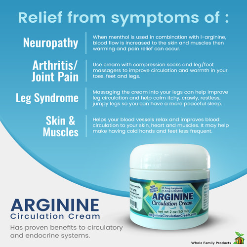 L-Arginine Topical Cream: The Natural Remedy to Increase Blood Flow Circulation