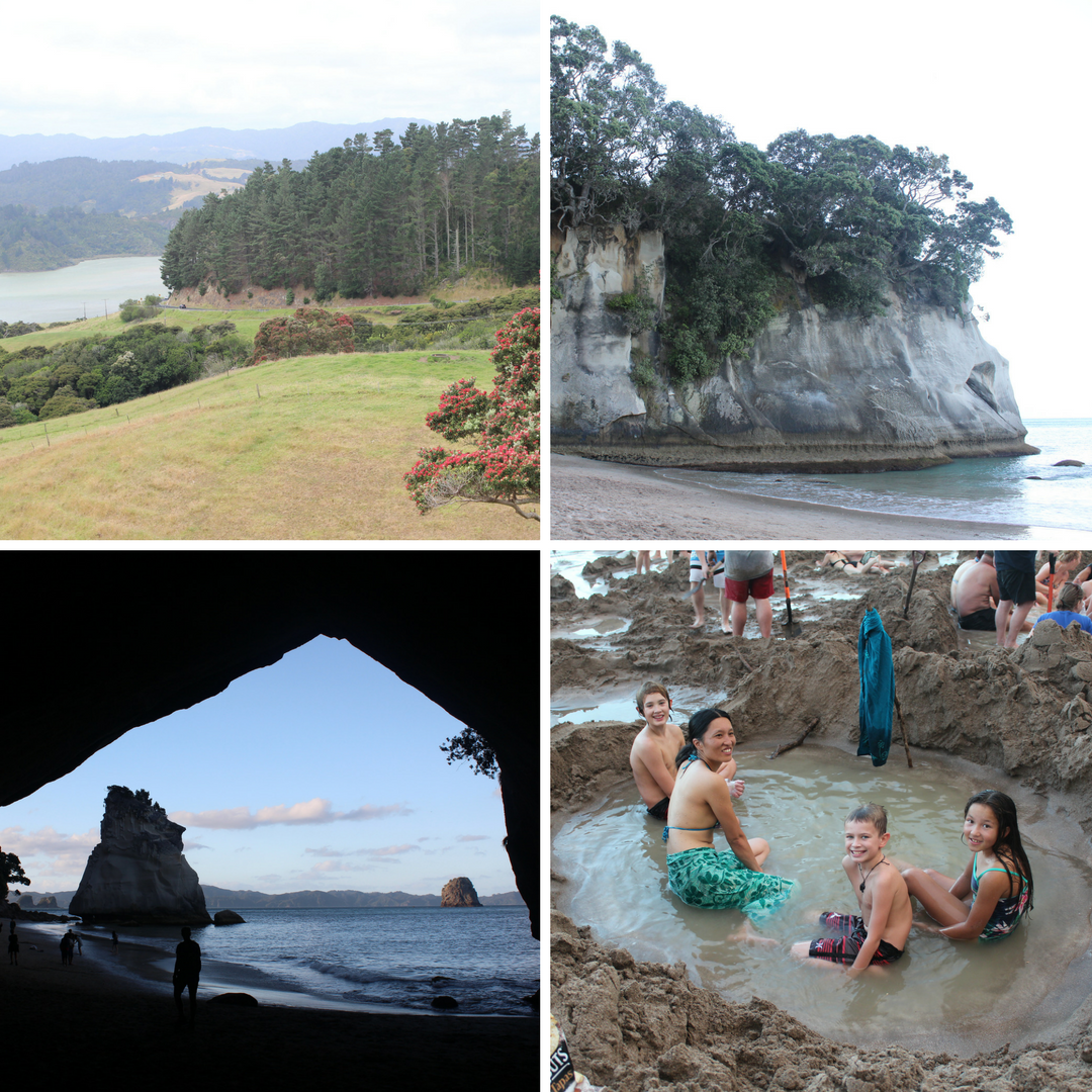 Coromandel Peninsula, Cathedral Cove, Hot Water Beach