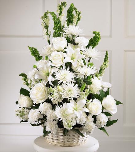 Brant Florist, Burlington, white flowers