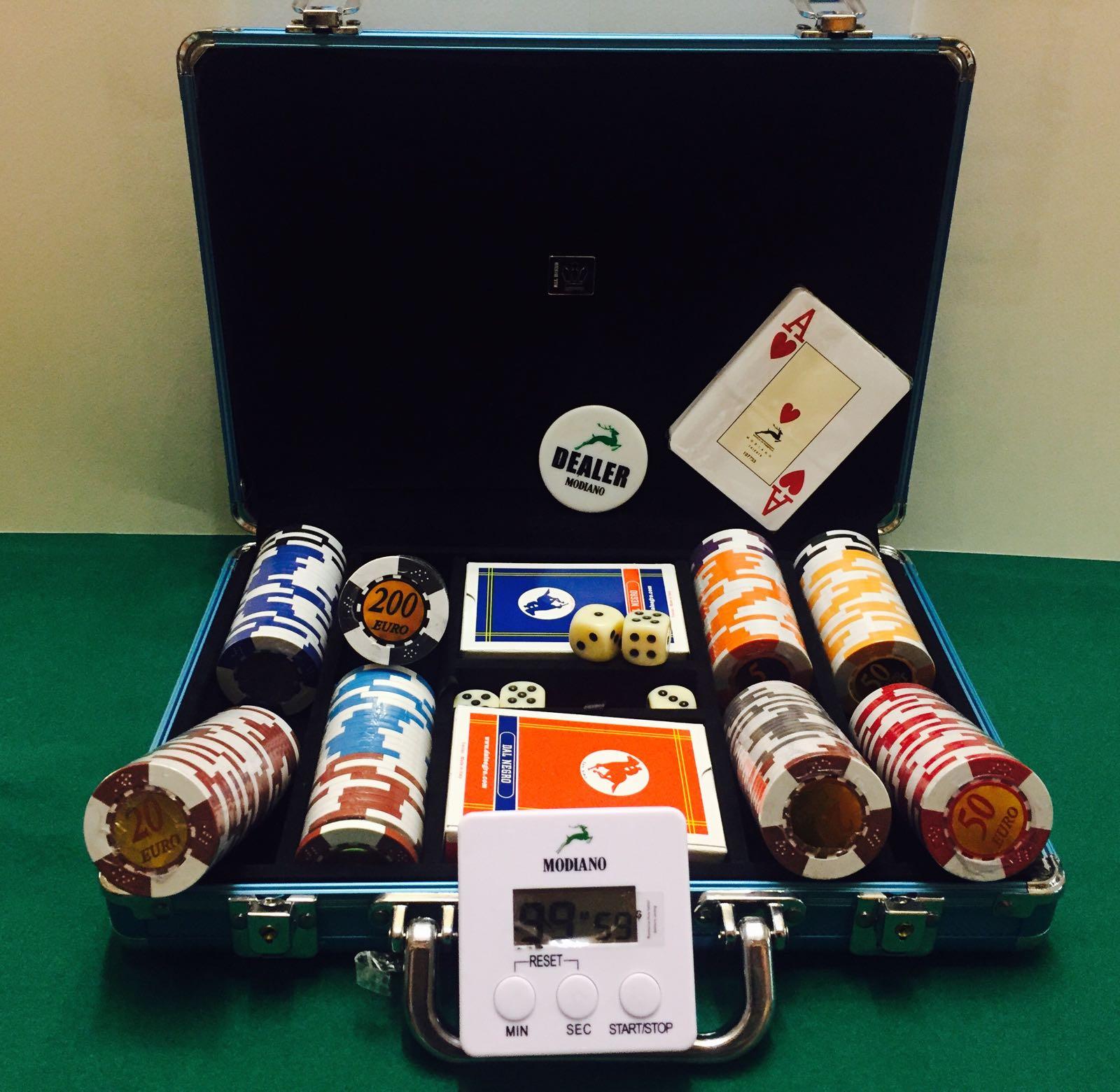 valigetta con carte e fiches da poker
