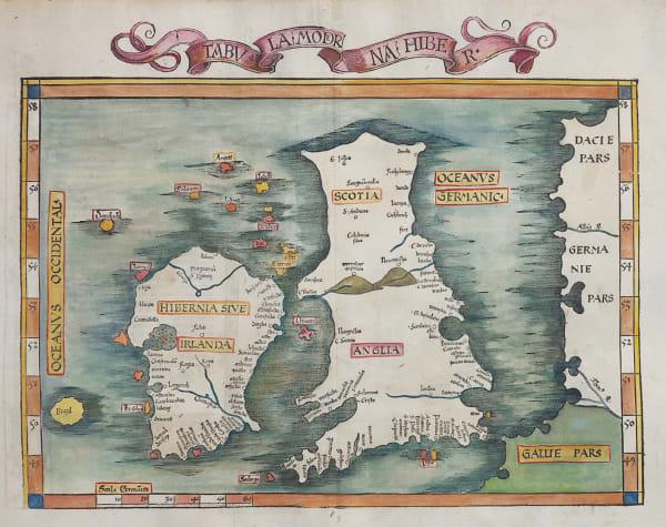 WALDSEEMULLER FRIES 1525 MODERN MAP OF BRITISH ISLES FOLIO