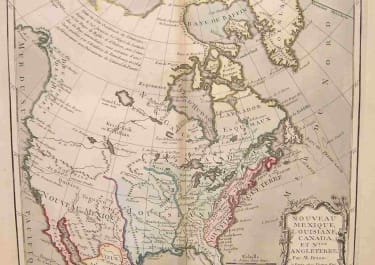 NORT AMERICA NOUVEAU MEXIQUE,LOUISIANA,CANADA ET NLLE ANGLETERRE