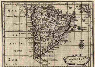SOUTH AMERICA AMERICA MERIDIONALE