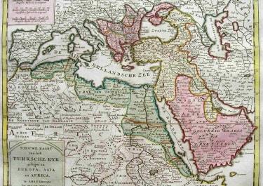 TURKISH EMPIRE NIEUWE KAART VAN HET TURKSCHE RYK