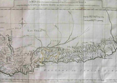 SOUTH AFRICA A MAP OF THE SOUTHERN EXTREMITY OF THE CONTINET OF AFRICA