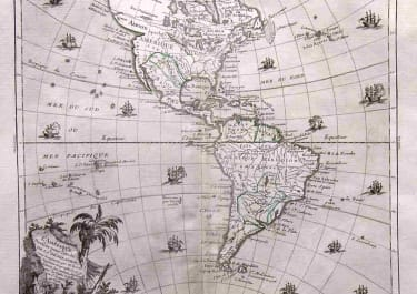 THE AMERICAS L'AMERIQUE DRESSEE POUR L'ETUDE DE LA GEOGRAPHIE