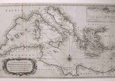 A CORRECT CHART OF THE MEDITERRANEAN SEA