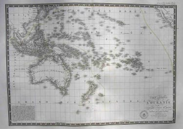 CARTE GENERALE DE L'OCEANIE