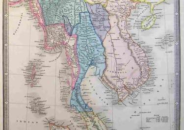 MALAYSIA MAP OF THE BURMAN EMPIRE