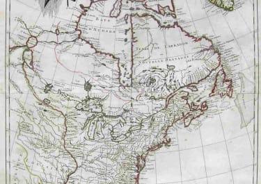 NORTH AMERICA PARTIE DE L'AMERIQUE SEPTENTRIONALE QUI COMPREND LE CANADA LA LOUISIANE,LE LABRADOR,LE GROENLAND,LA NOUVELLE ANGLETERRE,LA FLORIDE