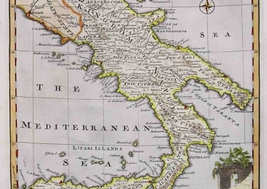 A NEW & ACCURATE MAP OF THE KINGDOMS OF NAPLES & SICILY