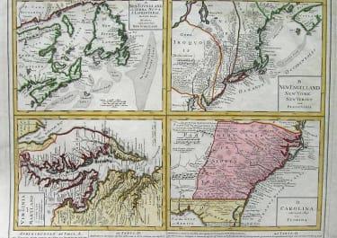 NORTH AMERICA DOMINIA ANGLORUM IN AMERICA SEPTENTRIONALI