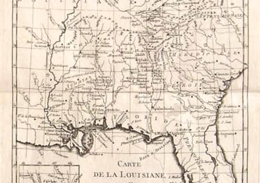 FLORIDA LOUISIANA CARTE DE LA LOUISIANE ET DE LA FLORIDE