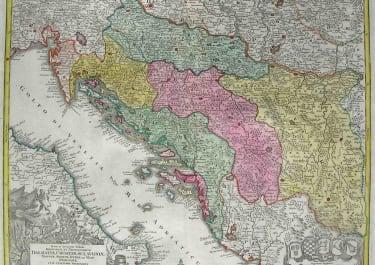 BALKANS DALMATIAE,CROATIAE,SCLAVONIAE,BOSNIAE