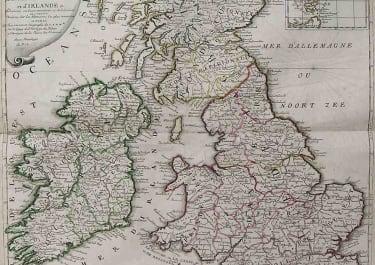 BRITISH ISLES LES ISLES BRITANNIQUES OU SONT LES ROYAUMES D'ANGLETERRE D'ECOSSE ET D'IRLANDE