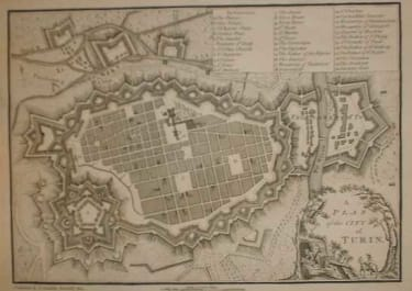 A PLAN OF THE CITY OF TURIN