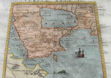 GULF STATES ARABIA TABULA ASIAE VI ARABIA