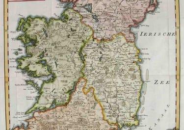 IRELAND NIEUWE KAART VAN IERLAND