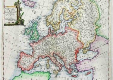 EUROPE NOUVA ED ESATTA CARTA DELL' EUROPA