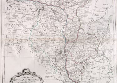 LITHUANIA CARTE DE LA LITHUANIE RUSSIENNE