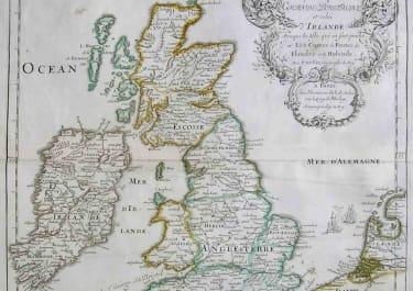 BRITISH ISLES CARTE DES ISLES BRITANIQUES
