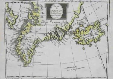 GREENLAND ICELAND CARTE DU GROENLAND