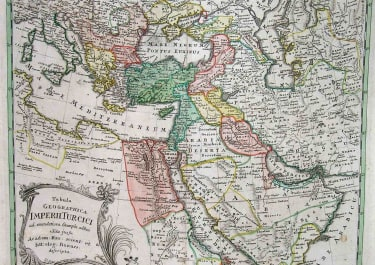 TURKISH EMPIRE TABULA GEOGRAPHICA IMPERII TURCICI