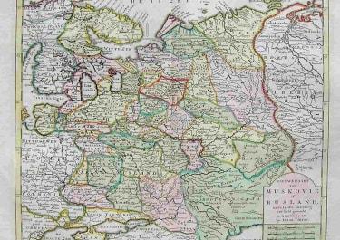 RUSSIA NIEU KAART VAN MUSKOVIE OF RUSLAND