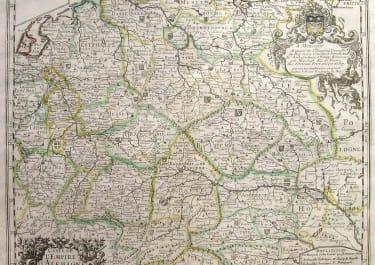 GERMANY CARTE DE L'EMPIRE D'ALLEMAGNE