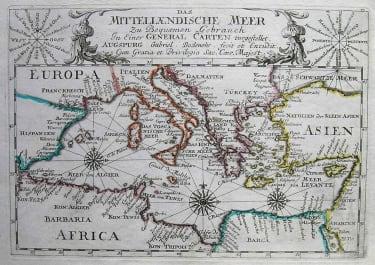 MEDITERRANEAN SEA DAS MITTELLAENDISCHE MEER