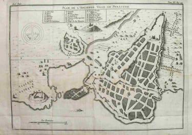 SYRACUSE PLAN DE L'ANCIENNE VILLE DE SYRACUSE